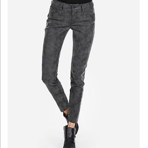 Express Mid-Rise Faux Suede Ankle Leggings